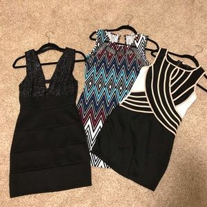 3 dresses. Used but in good condition